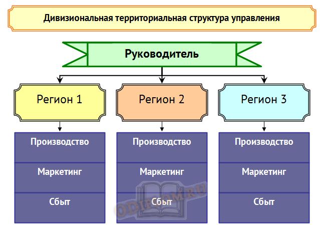 дивизиональная территориальная структура управления