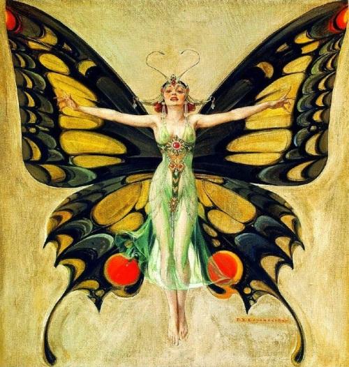 Джозеф Лейендекер Женщина-бабочка