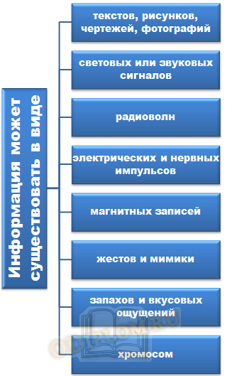 Формы существования информации