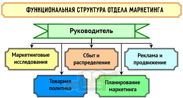 Функциональная структура отдела маркетинга