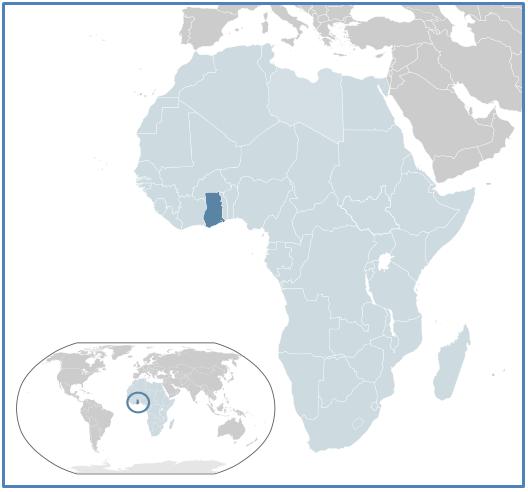Географическое положение Республики Гана