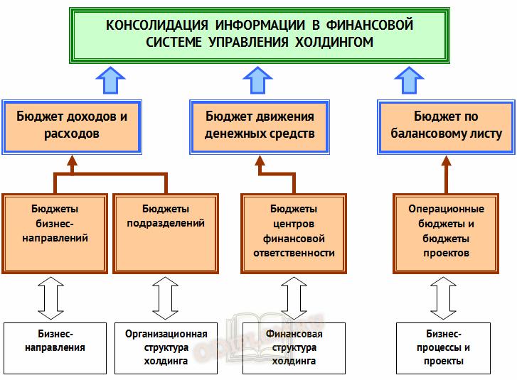 Информация в финансовой системе управления холдингом