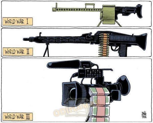 Карикатура на тему информационной войны