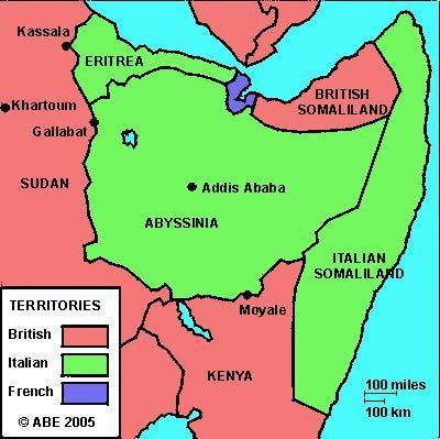 Карта Восточной Африки, Июль 1940год