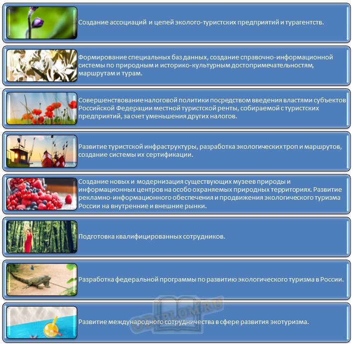 Меры по преодолению проблем развития экологического туризма в Российской Федерации