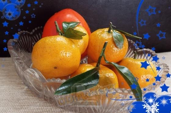Новогодние фрукты