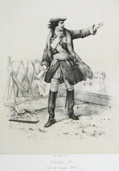 Петр Первый, французская гравюра
