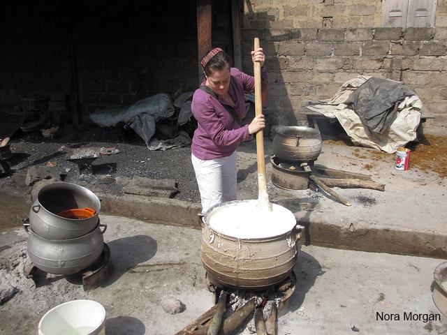 Приготовление Фуфу в Гане