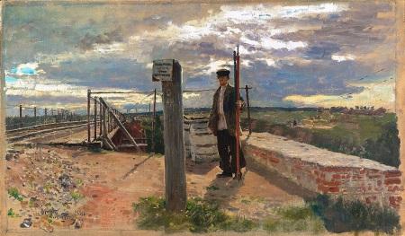 Работник жд в 19 веке Картина Репина