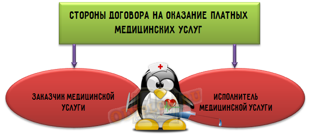 Стороны договора на оказание платных медицинских услуг