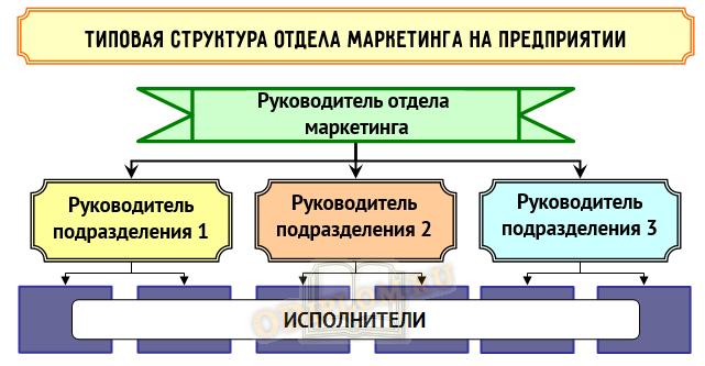 Типовая структура отдела маркетинга на предприятии