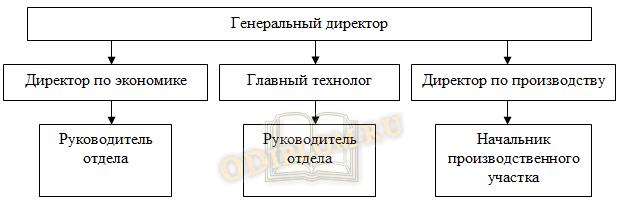 Три уровня управления в организационной структуре предприятия линейного типа