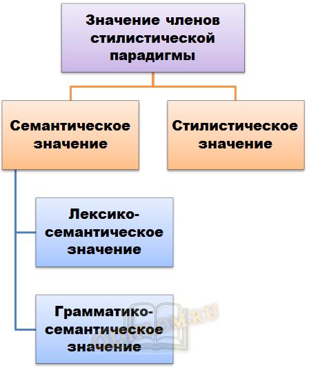 Значение членов парадигмы